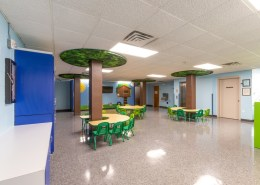 Custom tables, pole coverings and wall graphics