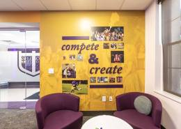 Wall graphics and 3d lettering