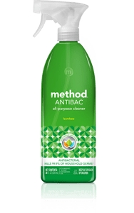 antibacterial cleaner 28 oz bottle front bamboo
