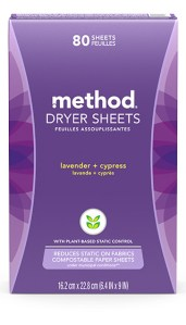Dryer Sheets 80 ct Lavender + Cypress Box Front