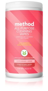 Pink Grapefruit All Purpose Cleaning Wet Wipes 70 count Front