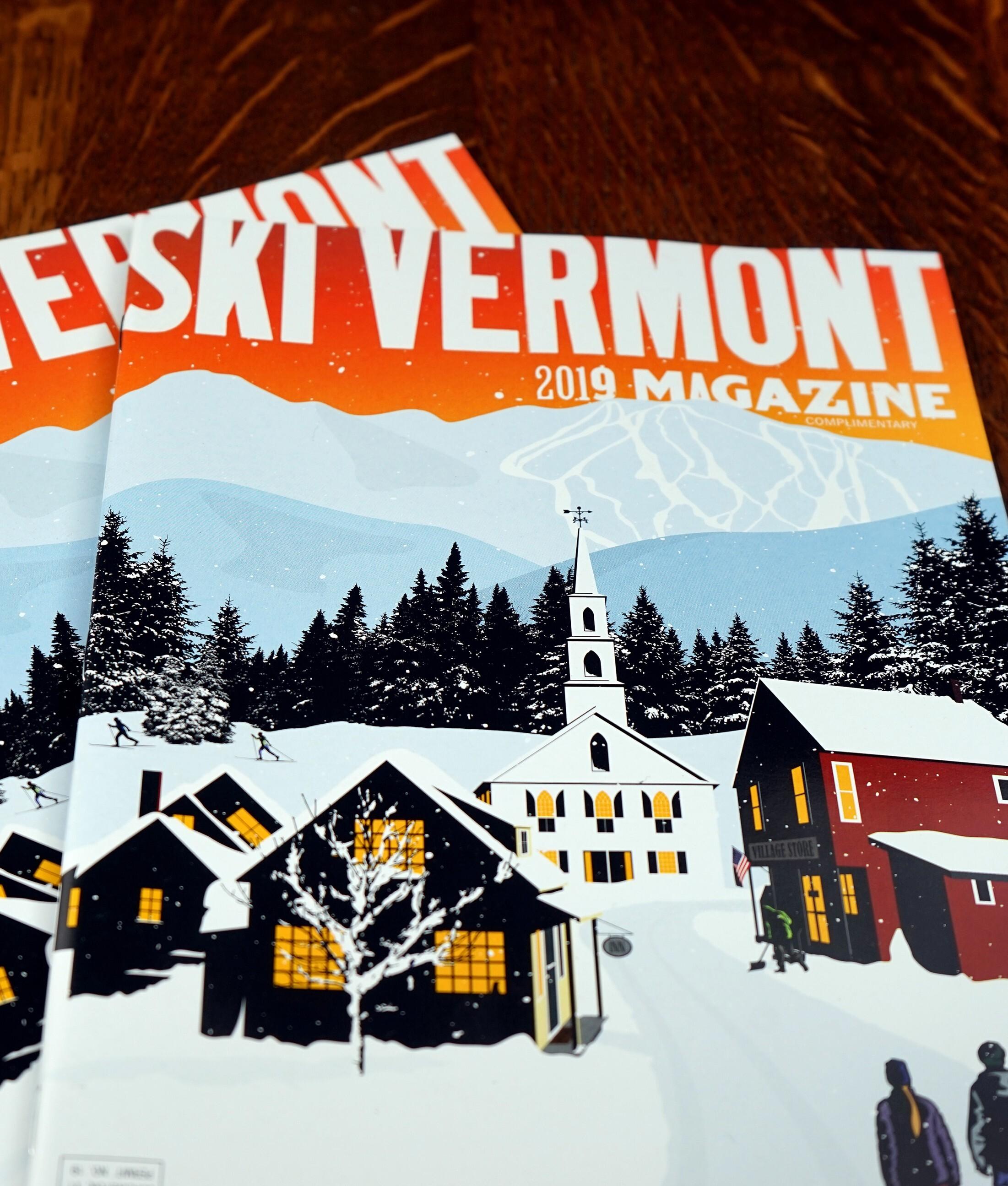 ski vermont branding logo design