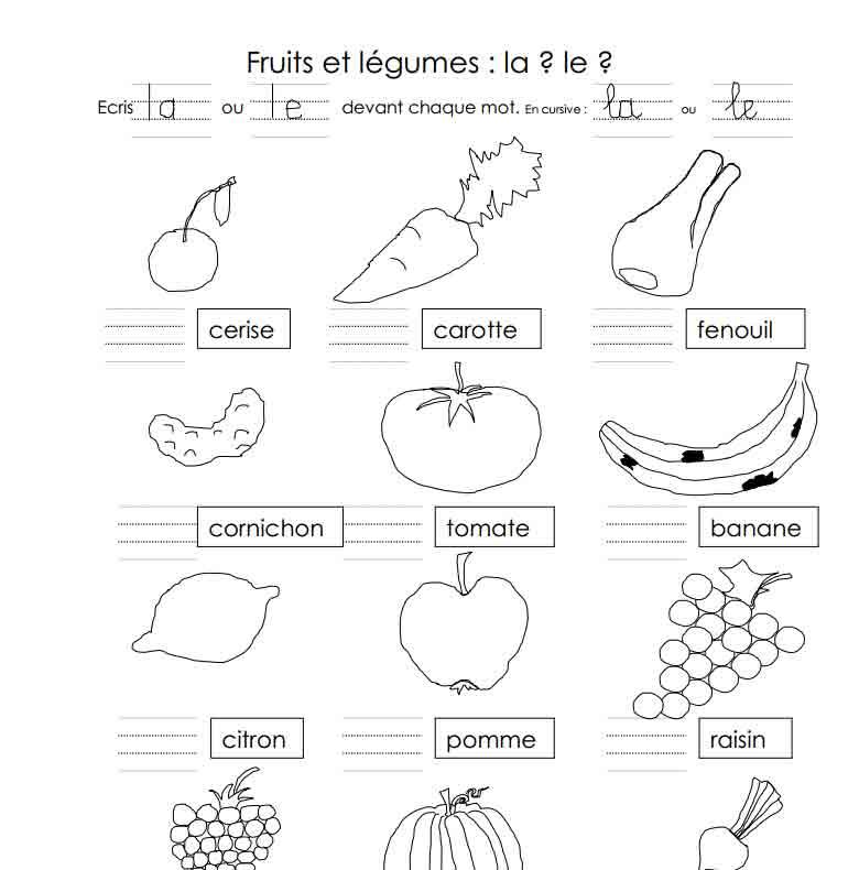 Fruits et légumes : la ? ou le ?