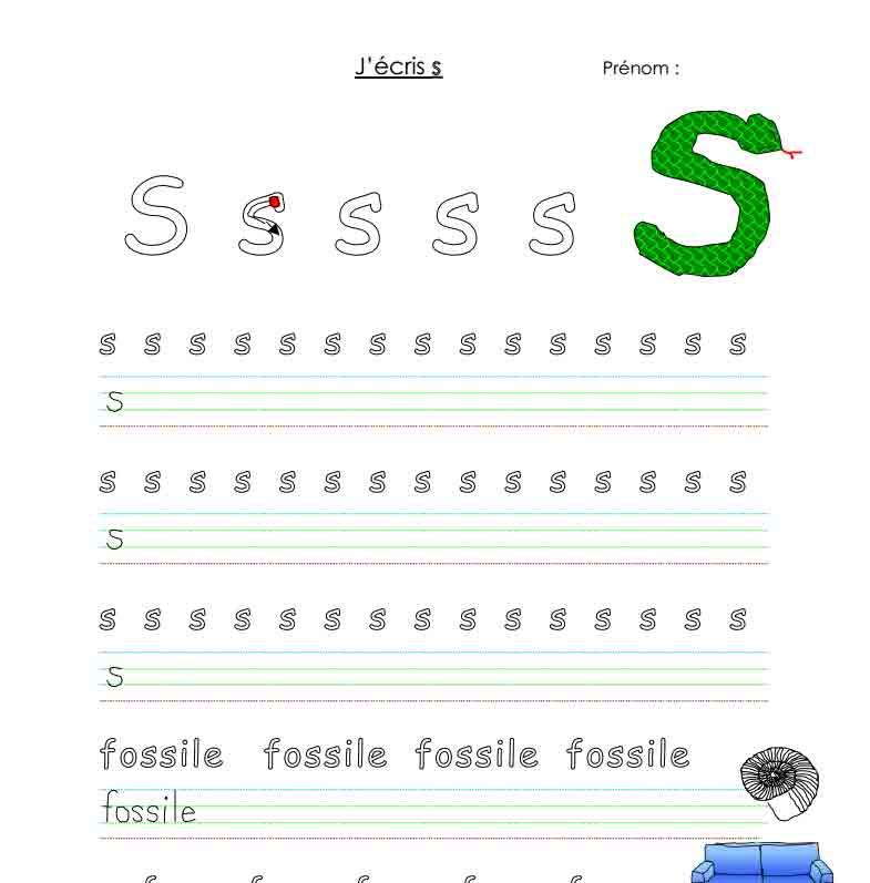 J'écris S