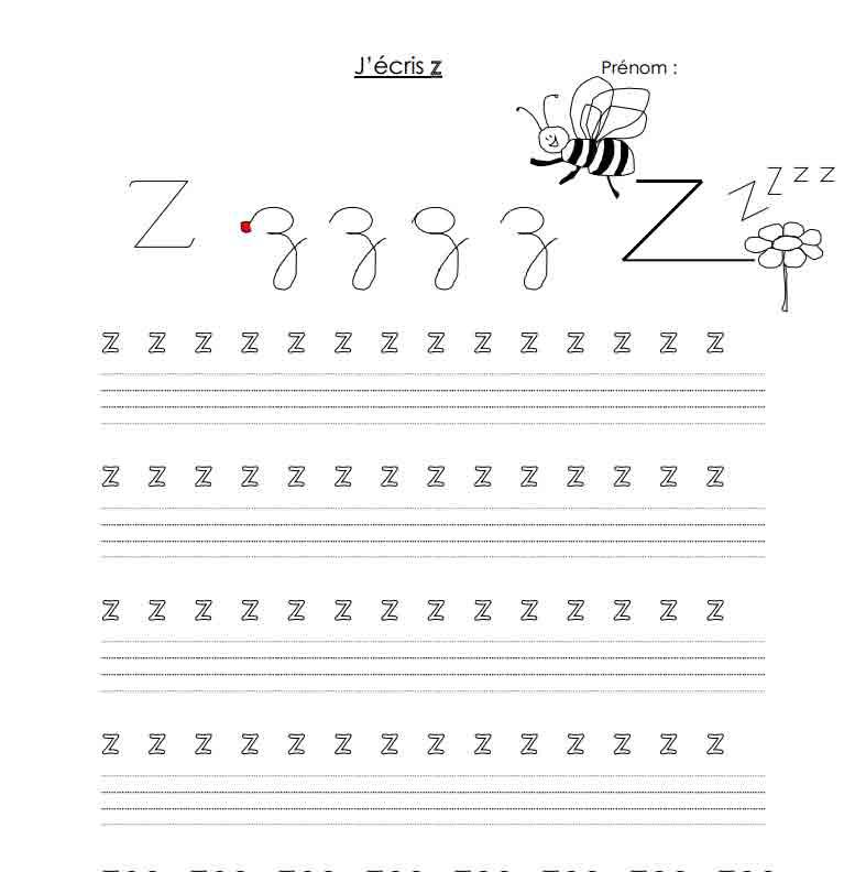 J'écris Z
