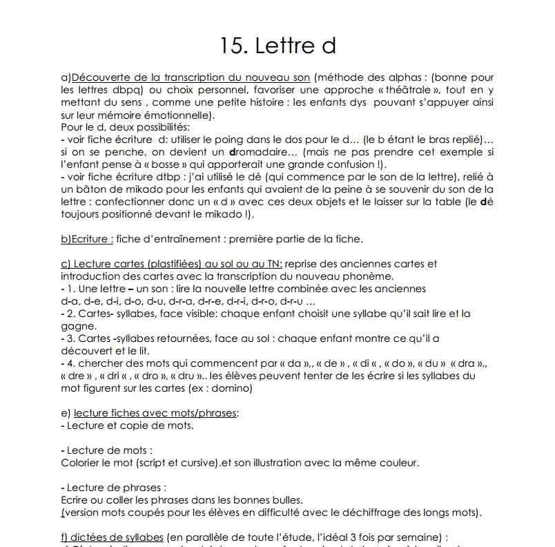 La lettre D