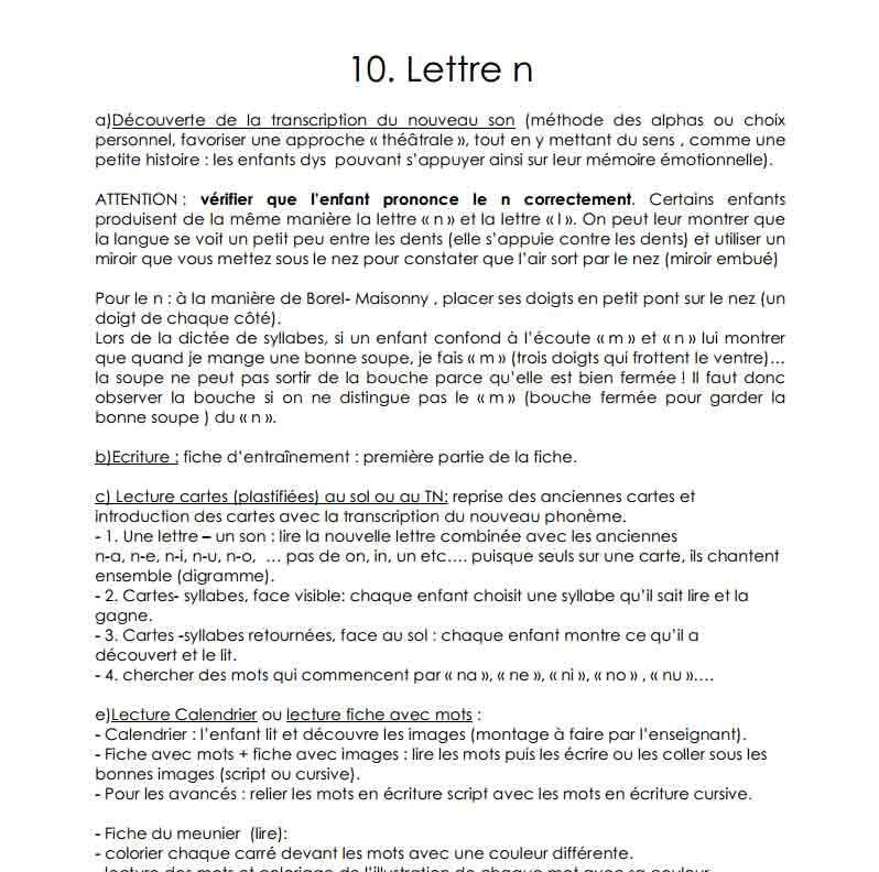 La lettre N