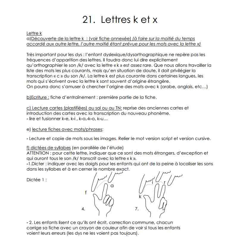 Les lettres K et X
