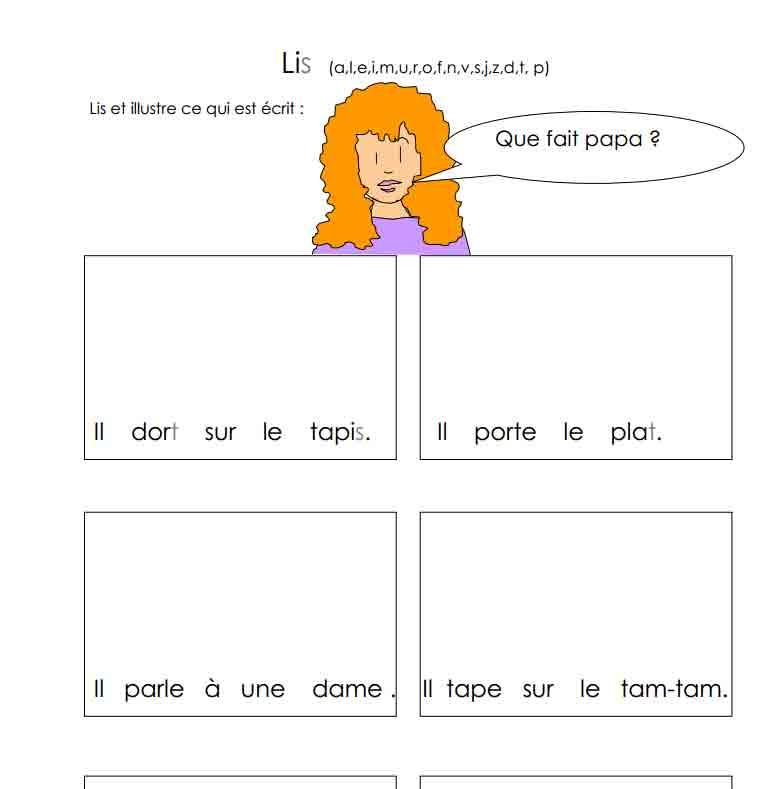 Lis le mot (a, l, e, i, m, u, r, o, f, n, v, s, j, z, d, t, p) bis