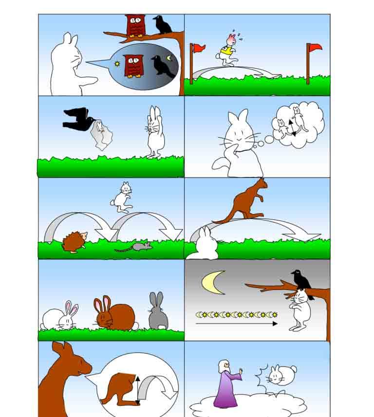 histoire Pourquoi le lapin a-t-il de longues oreilles ?