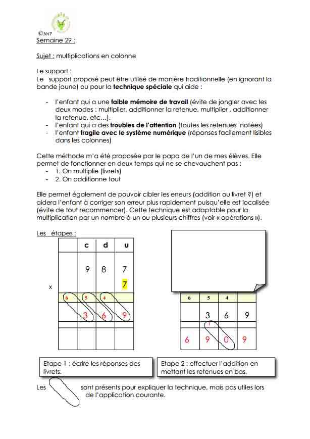 Programme semaine 29 Maths 5P Harmos