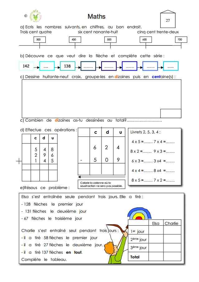 Programme semaine 27 Maths 5P Harmos