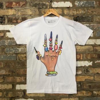 Method Printing - Custom Screen Printed T-Shirt : Pearl Jewel Hand