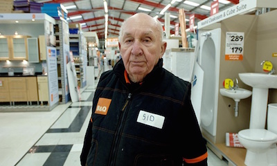 old people working in B&Q