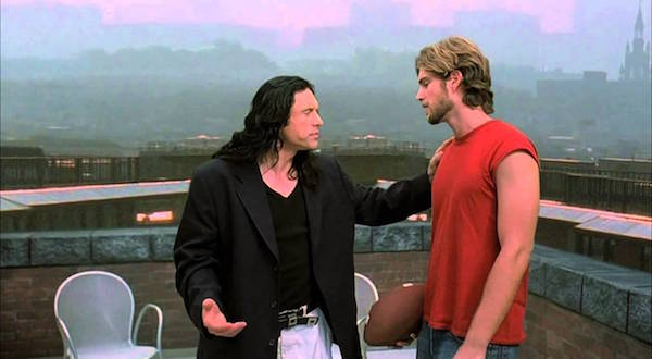 the roof with Johnny and Mark from The Room