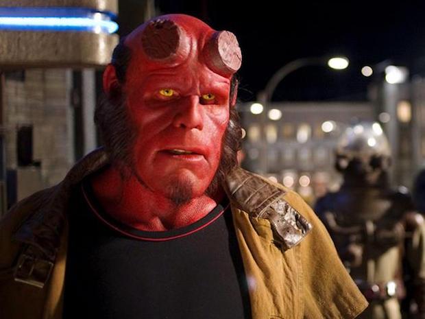 Ron Perlman as Hellboy in fun London film events