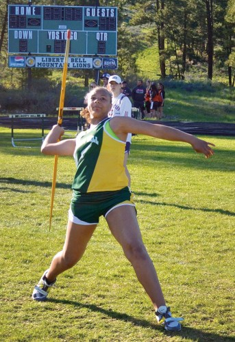 Photo by Laurelle Walsh: Sarina Williams took first place in the javelin throw.