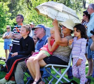 The Sabold family enjoyed the celebration in the park. Photo by Laurelle Walsh