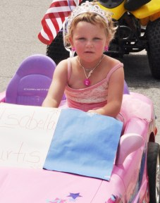 Isabella Curtis in the 2012 Independence Day parade in Twisp. File photo by Sue Misao