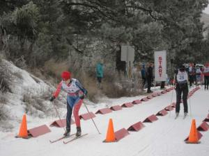 Danielle Micheletti (left), Winthrop, and Jennifer Vogel, Rossland B.C., at the start. Micheletti finished the race 14th with a time of 1:43:08 and Vogel finished 21st with a time of 2:04:05. Photo by Don Nelson