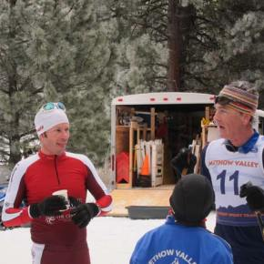 First place finisher, Tav Streit, and second place finisher, Gregg Strome, visit after the race. Photo by Don Nelson