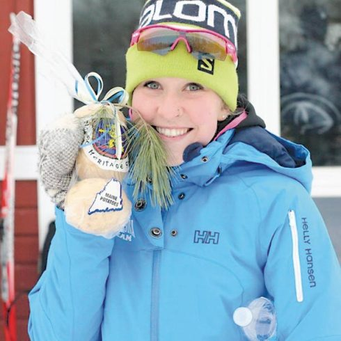 Winthrop's Kelsey Dickinson, shown here at a recent competition in Maine, has been nominated to the U.S. Biathlon World Junior Championship team. Photo courtesy Janice Dickinson