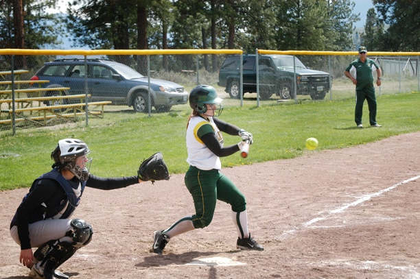 Baylee Canedo, at bat, was one of the leaders on the Lady Lions softball team that made it to the state finals. Canedo was the league's Catcher of the Year. Photo by Mike Maltais