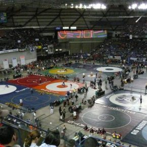 The Tacoma Dome was filled with fans and athletes for Mat Classic XXVI. Photo by Callie Fink