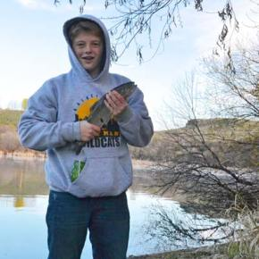 Kids fish for prizes at Pearrygin on Saturday