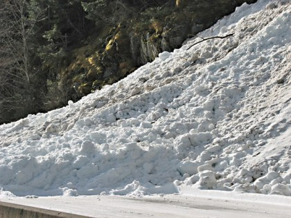 Day one reopening SR 20 – North Cascades Highway - Ruby Ridge avalanche chute #10. Photo courtesy WSDOT