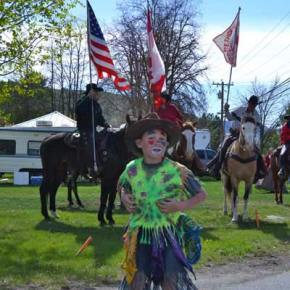 Junior rodeo clown Lucien Paz. Photo by Laurelle Walsh