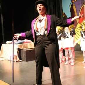Morgan Tate plays Willie Wonka. Photo by Darla Hussey