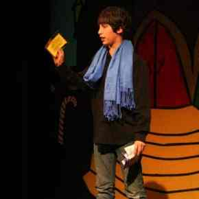 Charlie (Myles Davis) reacts with disbelief when he finally finds his golden ticket. Photo by Darla Hussey