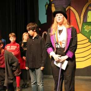 Willy Wonka is played by Morgan Tate. Photo by Darla Hussey