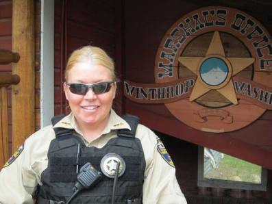 Rikki Schwab, Winthrop's new town marshal. Photo by Don Nelson