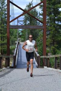 """Chris """"Flash"""" Clark came in second in the solo category, with a time of 3 hours, 37 minutes. Photo by Laurelle Walsh"""