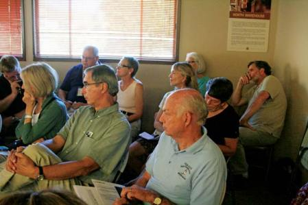 About 40 representatives of local organizations and agencies attended a meeting last week to discuss formation of a group to develop long-term recovery  strategies for recovering from the effects of the Carlton Complex Fire damage. Photo by Marcy Stamper