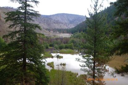 One of the Wenner Lakes after heavy rains breached three of the five dams. Courtesy Washington Department of Ecology