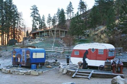 File photo by Marcy Stamper Since she started working on plans for an RV park last year, property owner Kimberly Mele has been renovating vintage trailers and decorating them with different themes.