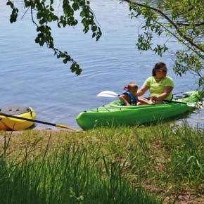Photo by Laurelle Walsh Saturday was an ideal day for a family kayak outing — and lots of other activities — at Pearrygin Lake State Park, where the beach was full of sunbathers and swimmers.