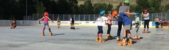 Photos courtesy of Connor Walsh Kids of all ages are starting to get the hang of roller skating at the outdoor Winthrop Ice & Sports Rink, which is open four days a week. Special events for kids and teens are scheduled during the next couple of weeks.