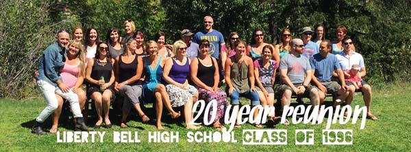 Photo courtesy of Sarah Schrock The first graduating class from Liberty Bell High School's current building had a reunion last weekend.