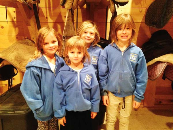 Photo courtesy of Keelyn Roman  Pony Club members, from left, Audrey and Camille Roman, Lilly and Nella Belcher.