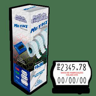 """Etiquetas P/aparelho Etiquetador Metiq CX 9.600UN (16x26mm) """"Data Fabricação Valido Até"""""""