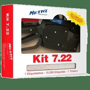 Kit Etiquetadora 7.22 7 Digitos + Etiquetas Brancas  (22mmx12mm)