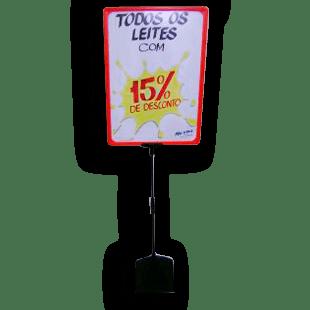 Expositor De Preço A3 (BMTT) – Vermelho