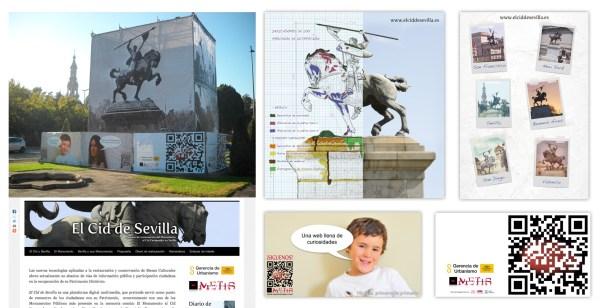 Diseño, montaje y web de la campaña divulgativa de ElCiddeSevilla.es