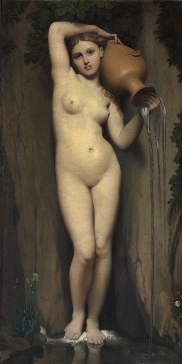 """La Fuente"". Jean Auguste Dominique Ingres."