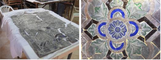 Conservación-restauración de vidriera policromada