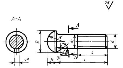 Болты с полукруглой головкой и усом (ГОСТ 7783-81)